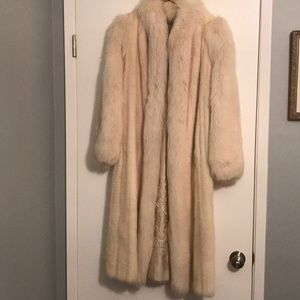 Women'sChampagne colored mink and fox coat